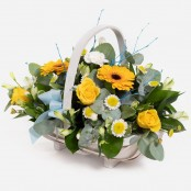 Baby Boy Basket Arrangemnet